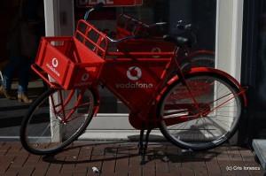 reclama Vodafone in Leiden Olanda