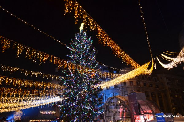 Bucharest Christmas Market in Piata Universitatii din Bucuresti - decembrie 2015
