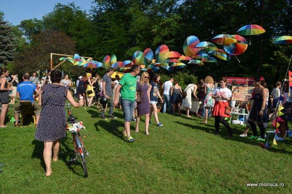 Parada Skirtbike la Roaba de Cultura in Parcul Herastrau din Bucuresti
