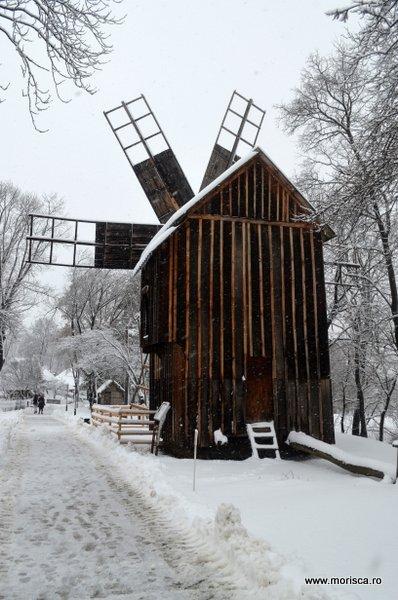 Zapada iarna la Muzeul National al Satului din Bucuresti