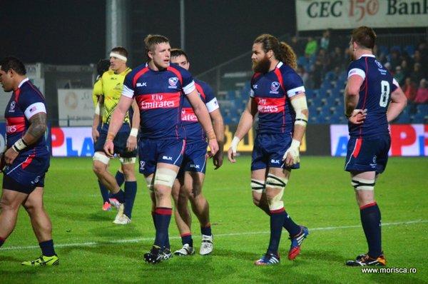 Meci rugby Romania - SUA pe Stadionul Arcul de Triumf din Bucuresti