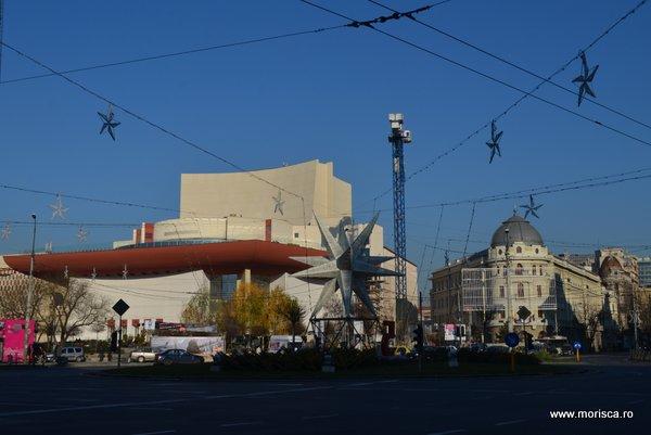 Noua fatada a Teatrului National din Bucuresti
