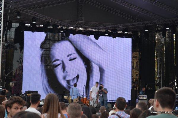 Eveniment lansare Telekom in Romania - Piata Revolutiei din Bucuresti 13 septembrie 2014