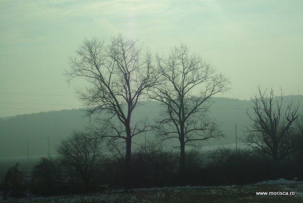 Zapada pe drum iarna in Bulgaria