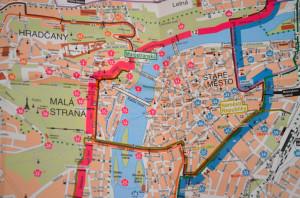 Harta turistica Praga