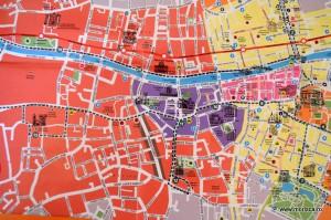 Harta turistica Dublin Irlanda