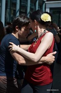Dansatori milonga tango Londra Spitalfieds Market