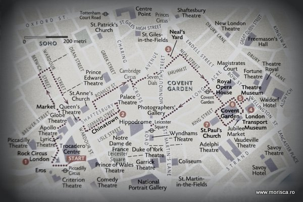 Marea Britanie harta turistica Londra