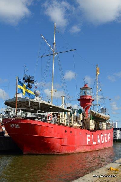 Pe faleza la Muzeul Maritim din Göteborg