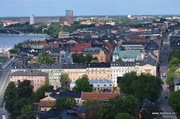 Stockholm-ul vazut din turnul primariei