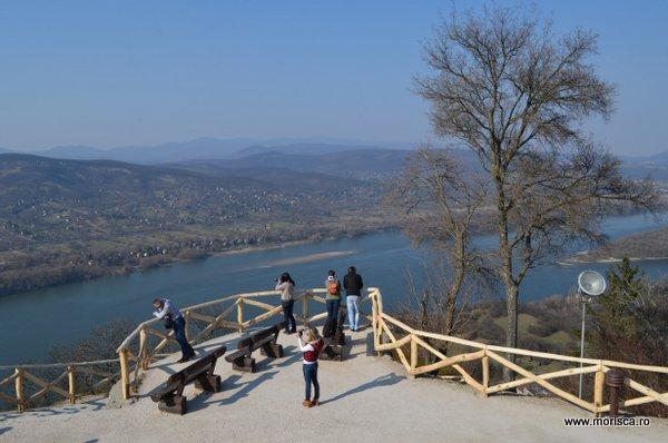 Dunarea vazuta de la Cetatea Visegad - Ungaria